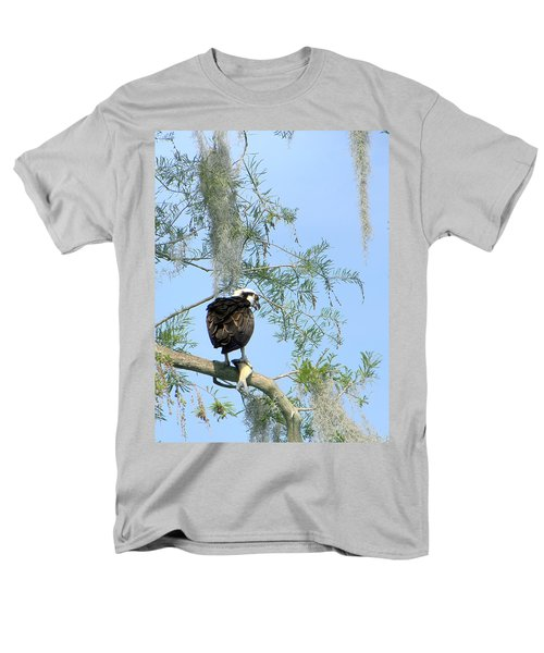 Osprey With A Fish Men's T-Shirt  (Regular Fit) by Chris Mercer