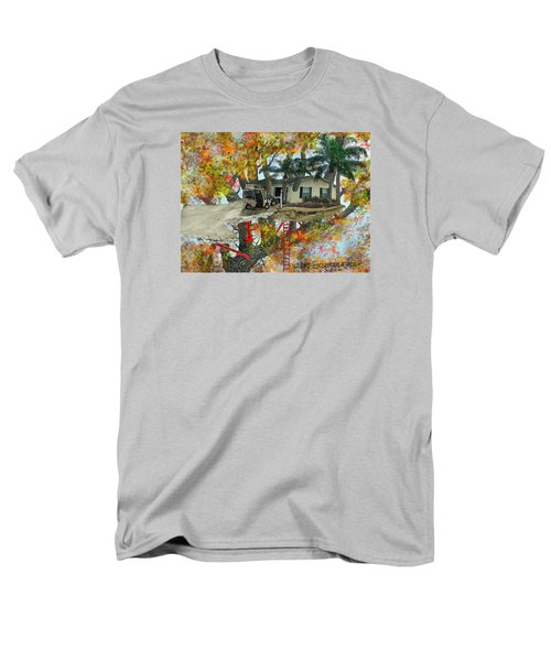 Men's T-Shirt  (Regular Fit) featuring the drawing Our Tree House by Jim Hubbard