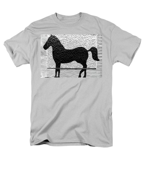 Men's T-Shirt  (Regular Fit) featuring the photograph Painted Black - Stone Pony by Colleen Kammerer