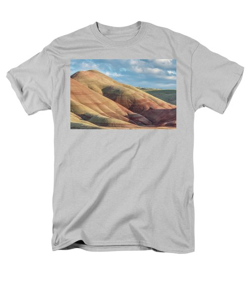 Men's T-Shirt  (Regular Fit) featuring the photograph Painted Hill And Clouds by Greg Nyquist