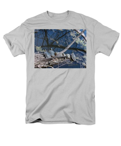 Men's T-Shirt  (Regular Fit) featuring the photograph Painted Turtle Dance Line by Edward Peterson