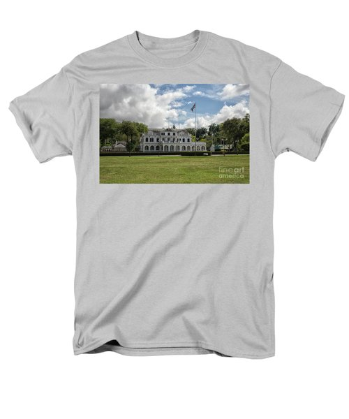 Palace Of President In Paramaribo Men's T-Shirt  (Regular Fit) by Patricia Hofmeester
