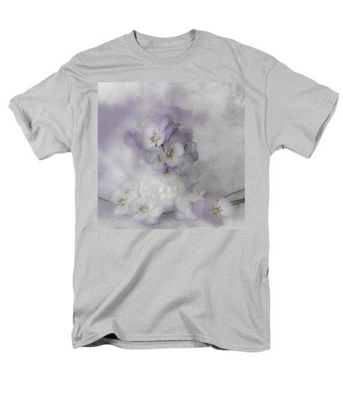Pastel Pansies Still Life Men's T-Shirt  (Regular Fit) by Sandra Foster