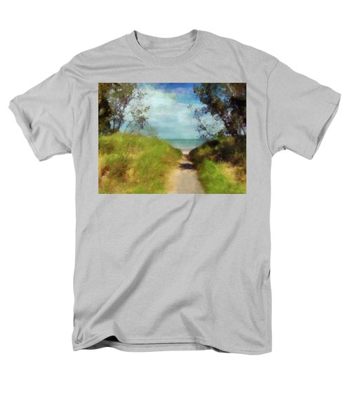 Path To Whihala Beach 2 Men's T-Shirt  (Regular Fit) by Cedric Hampton