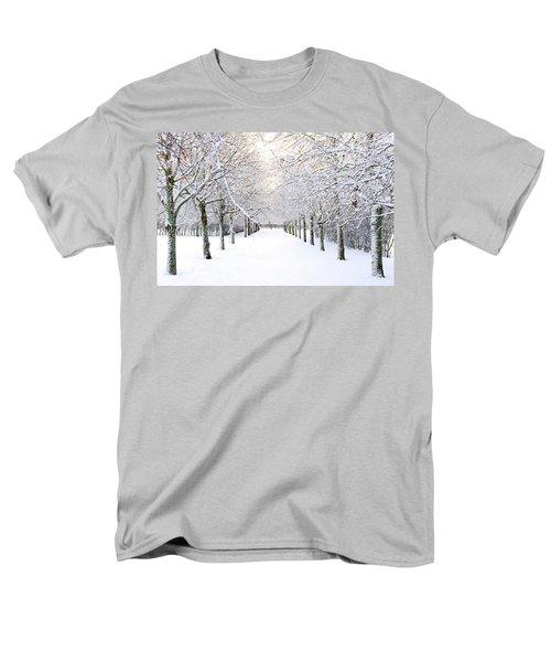 Pathway In Snow Men's T-Shirt  (Regular Fit) by Marius Sipa