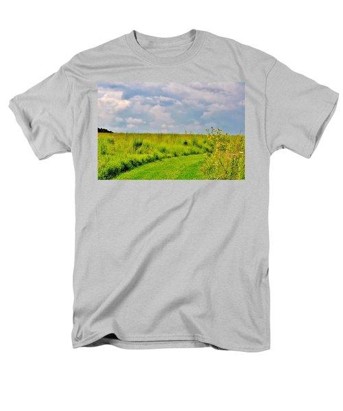 Pathway Through Wildflowers Men's T-Shirt  (Regular Fit)
