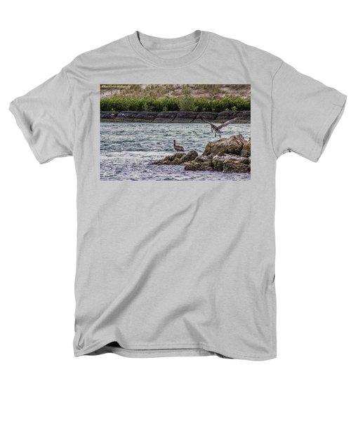 Pelicans  Men's T-Shirt  (Regular Fit) by Nance Larson