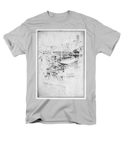 Men's T-Shirt  (Regular Fit) featuring the drawing Pennell Polo Grounds 1921 by Granger