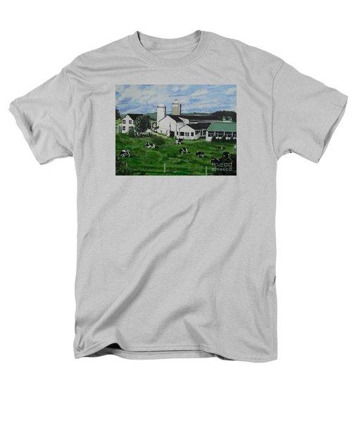 Pennsylvania Holstein Dairy Farm  Men's T-Shirt  (Regular Fit) by Francine Heykoop