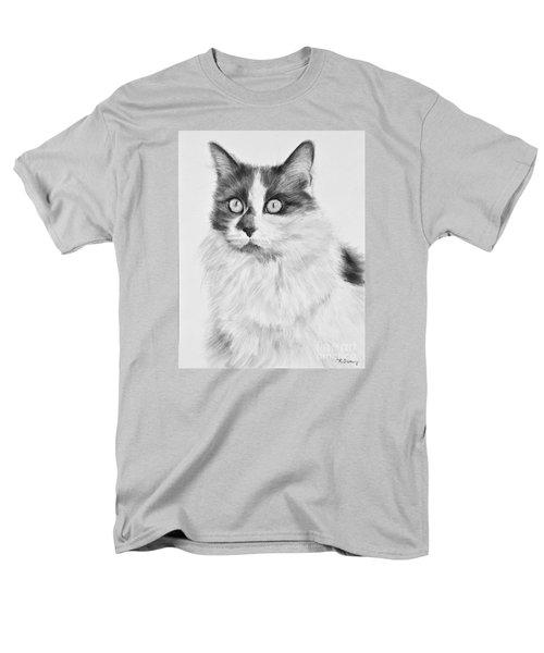Pet Cat Drawing Olivia Men's T-Shirt  (Regular Fit) by Kate Sumners