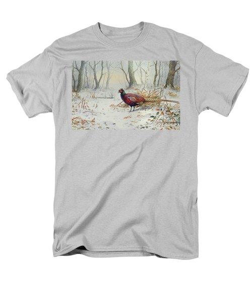 Pheasants In Snow Men's T-Shirt  (Regular Fit)