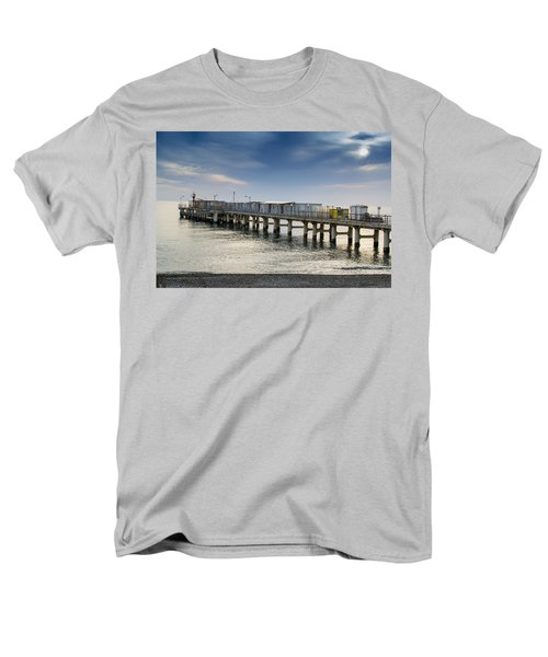 Men's T-Shirt  (Regular Fit) featuring the photograph Pier At Sunset by John Williams