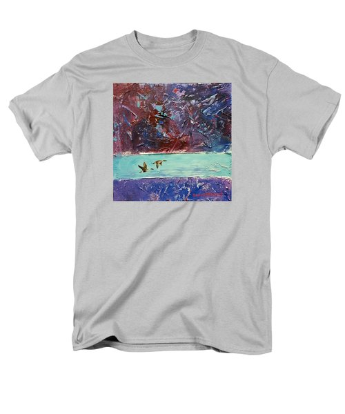 Men's T-Shirt  (Regular Fit) featuring the painting Pin Tails by David  Maynard