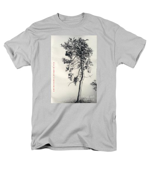Men's T-Shirt  (Regular Fit) featuring the drawing Pine Drawing by Maja Sokolowska