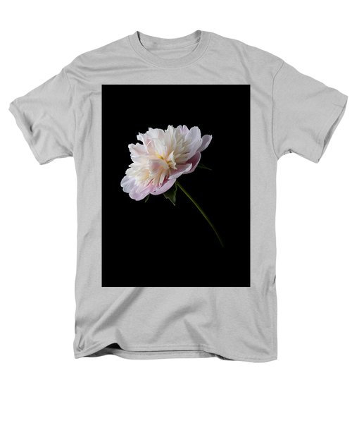 Pink And White Peony Men's T-Shirt  (Regular Fit) by Patti Deters