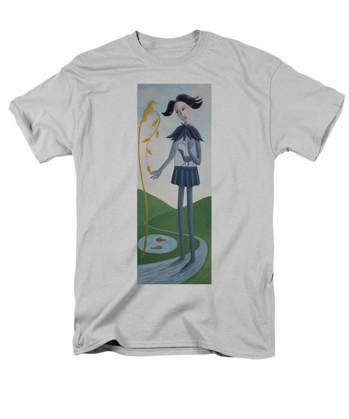 Men's T-Shirt  (Regular Fit) featuring the painting Plume by Tone Aanderaa