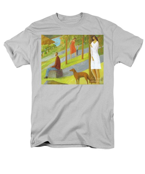Men's T-Shirt  (Regular Fit) featuring the painting Poets Hill by Glenn Quist