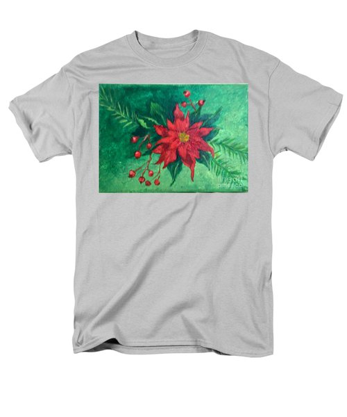 Men's T-Shirt  (Regular Fit) featuring the painting Poinsettia by Lucia Grilletto