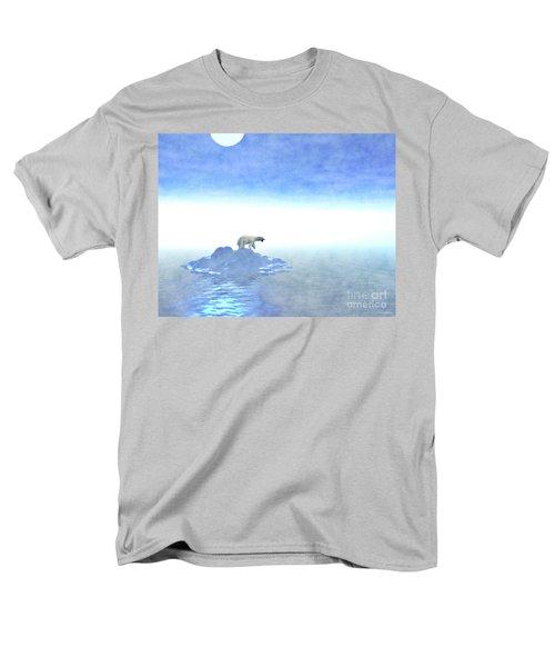Men's T-Shirt  (Regular Fit) featuring the digital art Polar Bear On Iceberg by Phil Perkins