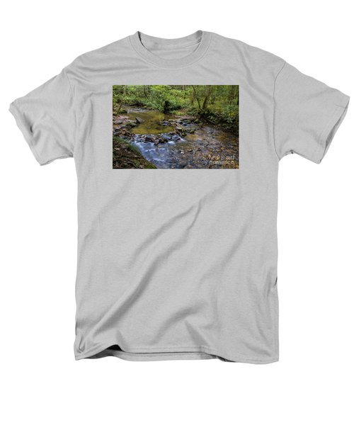 Men's T-Shirt  (Regular Fit) featuring the photograph Pool At Cooper Creek by Barbara Bowen