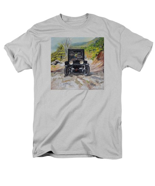 Popcorn Sutton - Looking For Likker Men's T-Shirt  (Regular Fit) by Jan Dappen