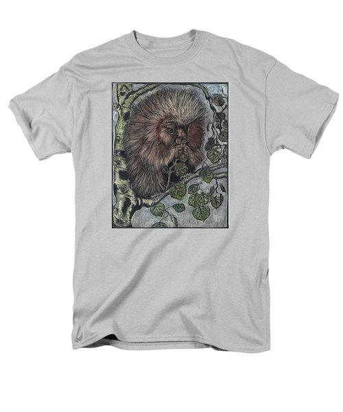 Men's T-Shirt  (Regular Fit) featuring the drawing Porcupine In Aspen by Dawn Senior-Trask