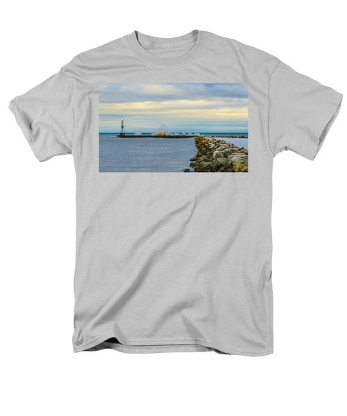 Men's T-Shirt  (Regular Fit) featuring the photograph Port Washington Light 1 by Deborah Smolinske