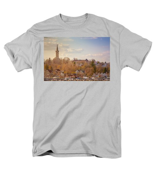 Port Washington Skyline Men's T-Shirt  (Regular Fit) by James  Meyer