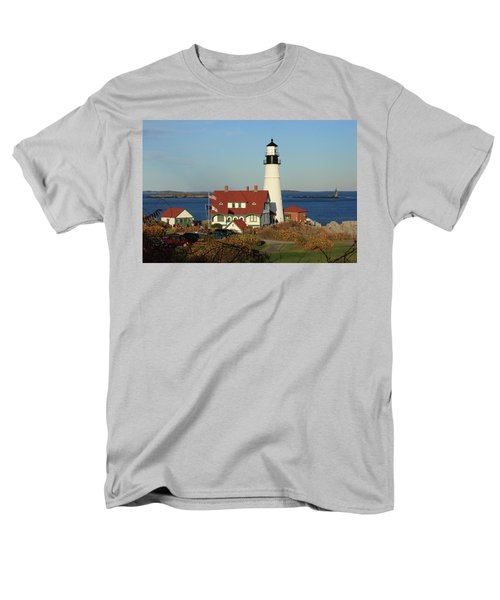 Portland Head Lighthouse 2 Men's T-Shirt  (Regular Fit) by Lou Ford