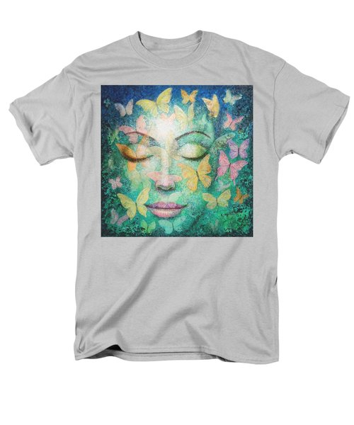 Men's T-Shirt  (Regular Fit) featuring the painting Possibilities Meditation by Sue Halstenberg