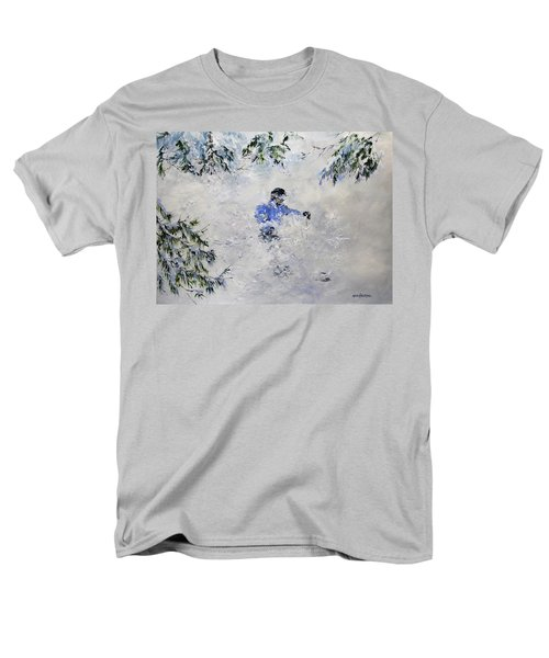 Men's T-Shirt  (Regular Fit) featuring the painting Powder Hound by Ken Ahlering
