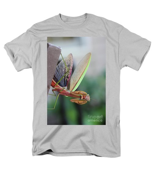 Men's T-Shirt  (Regular Fit) featuring the photograph Praying Mantis by Stacey Zimmerman