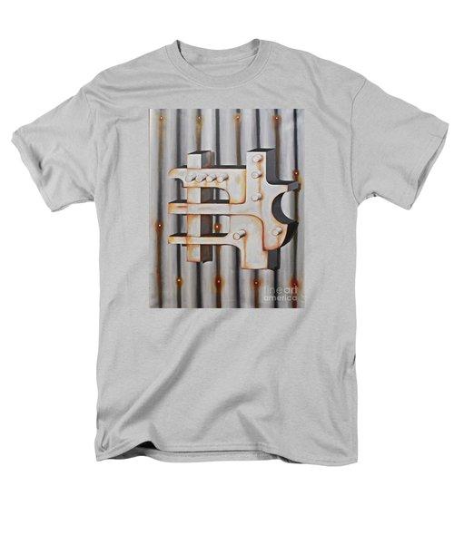 Men's T-Shirt  (Regular Fit) featuring the painting Project Object Series by John Stuart Webbstock