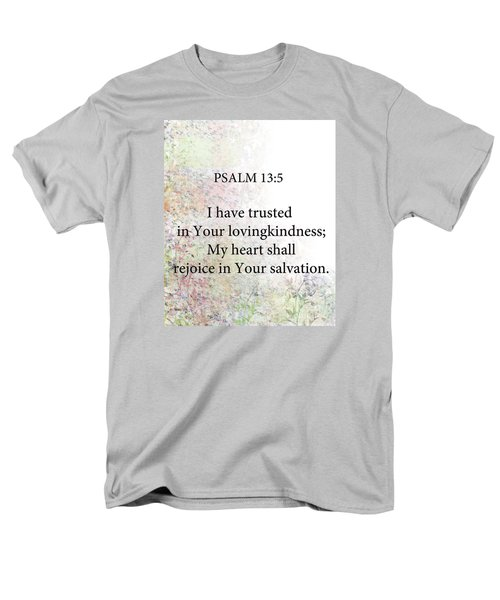 Men's T-Shirt  (Regular Fit) featuring the digital art Psalm 13 5 by Trilby Cole