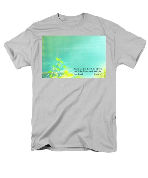 Psalm 27 Men's T-Shirt  (Regular Fit) by Catherine Alfidi
