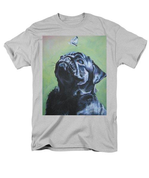 Pug Black  Men's T-Shirt  (Regular Fit) by Lee Ann Shepard