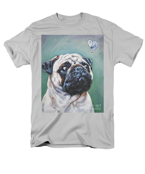 Pug With Butterfly Men's T-Shirt  (Regular Fit) by Lee Ann Shepard