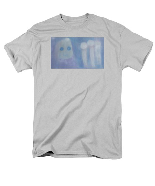 Men's T-Shirt  (Regular Fit) featuring the painting Pure Art As A Child, Smiling For Real Art Lovers by Min Zou