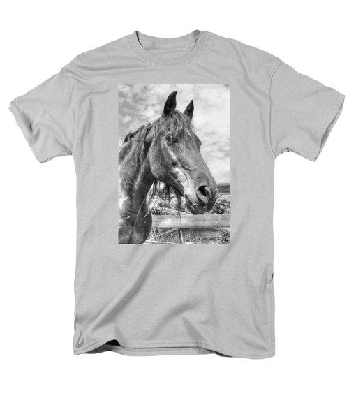 Quarter Horse Portrait Men's T-Shirt  (Regular Fit) by Jim Sauchyn