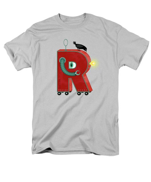 R Is For Robot Men's T-Shirt  (Regular Fit) by Valerie Drake Lesiak