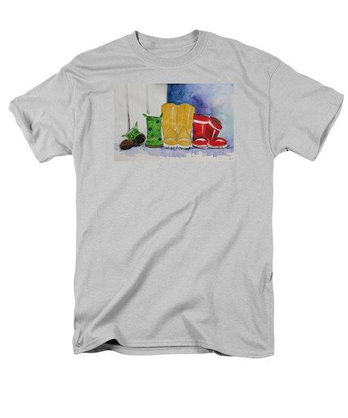 Rainboots Men's T-Shirt  (Regular Fit) by Terri Einer