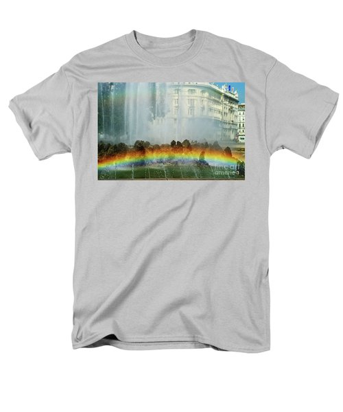 Men's T-Shirt  (Regular Fit) featuring the photograph Rainbow Fountain In Vienna by Mariola Bitner
