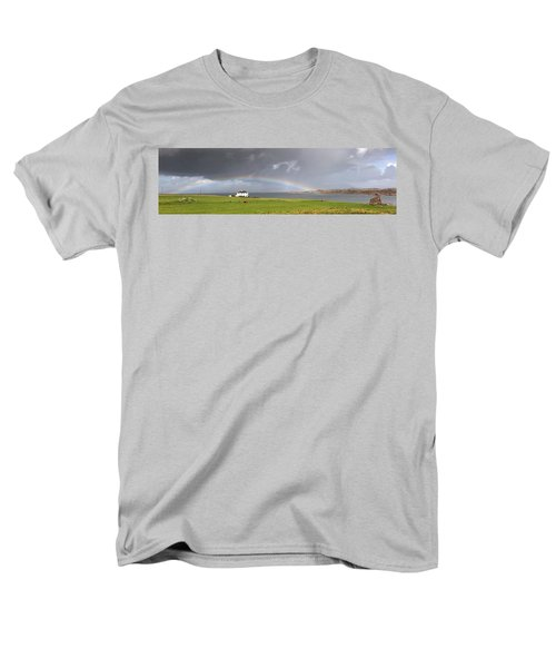 Rainbow, Island Of Iona, Scotland Men's T-Shirt  (Regular Fit) by John Short