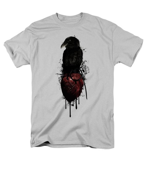 Raven And Heart Grenade Men's T-Shirt  (Regular Fit) by Nicklas Gustafsson
