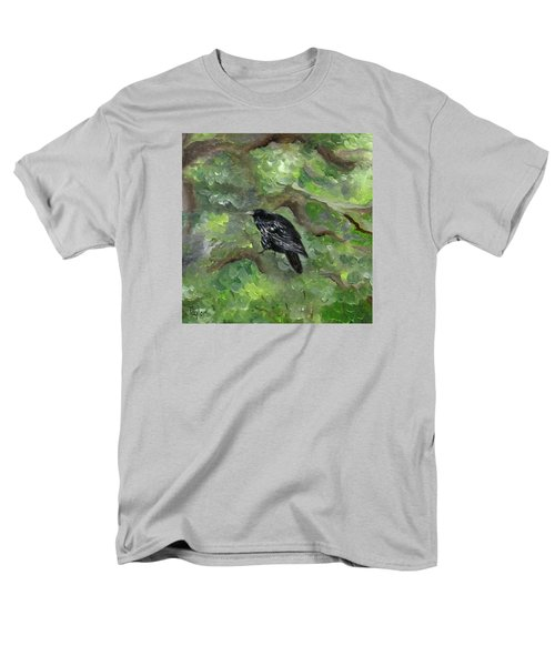 Raven In The Om Tree Men's T-Shirt  (Regular Fit) by FT McKinstry