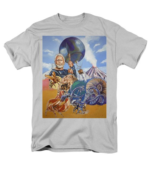 Men's T-Shirt  (Regular Fit) featuring the painting Ray Harryhausen Tribute The Mysterious Island by Bryan Bustard