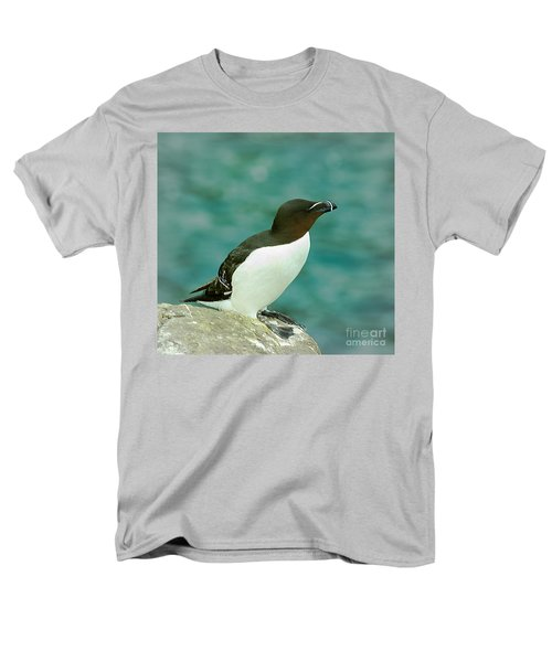 Razorbill Men's T-Shirt  (Regular Fit) by Nick Eagles