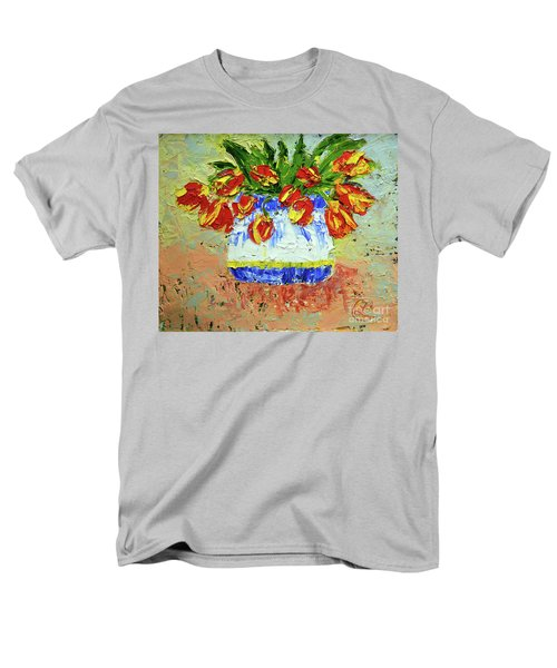 Red And Yellow Tulips Men's T-Shirt  (Regular Fit) by Lynda Cookson