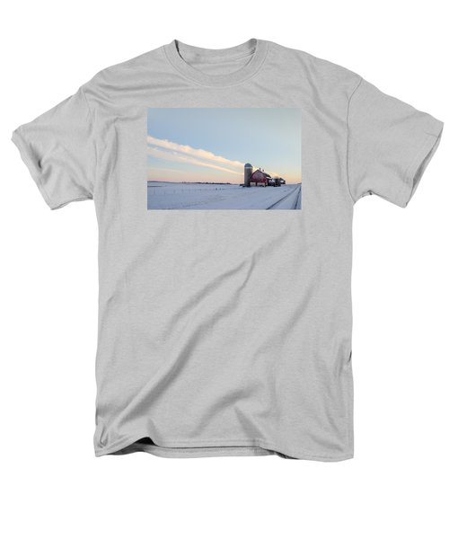 Men's T-Shirt  (Regular Fit) featuring the photograph Red Barn by Dan Traun