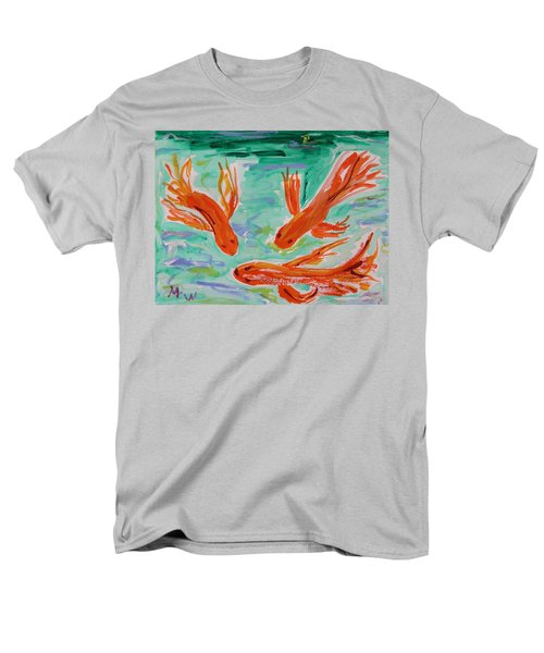 Men's T-Shirt  (Regular Fit) featuring the painting Red Eye Koi by Mary Carol Williams